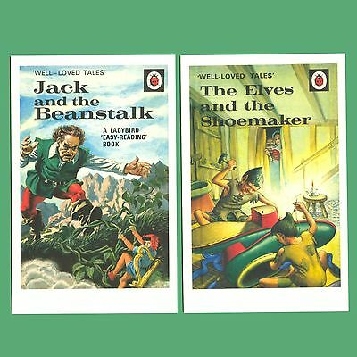 2 Ladybird Postcards - Jack And The Beanstalk / The Elves And The Shoemaker