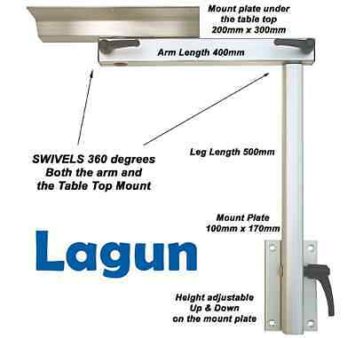 Lagun Table Mount - RV Caravan - Swivel & Adjustable Height Table Pedestal NEW