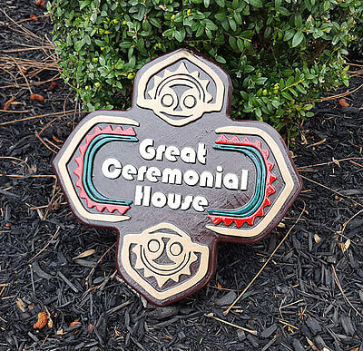 FULL SIZED Polynesian Themed Sign / Plaque Replica - Great Ceremonial House