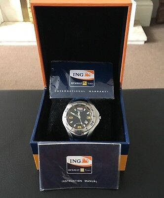 ING Renault F1 Team Watch In Box Excellent Condition