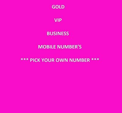 Gold Vip Business Easy Memorable Mobile Phone Number Diamond Platinum Sim Card
