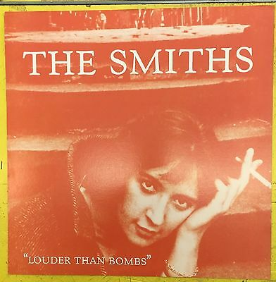 """THE SMITHS Louder Than Bombs Promo Flat Poster 12"""" x 12"""" Morrissey Johnny Marr"""