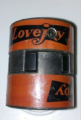 Lovejoy Hub Assembly Coupling, L-075 with Spider, .625 one side 11/16 other