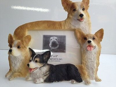 Welsh Corgi 4x6 Dog Picture Frame By E&S Imports ~NEW~