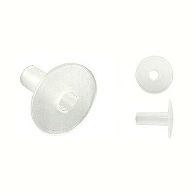 Eagle Dual Feed Thru Coax Wall Bushing With Knockouts White 100 Pack RG6 w//Grnd