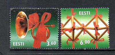 Estonia Mnh 2000 Sg383-384 Christmas