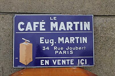 1930ths. COFFEE PORCELAIN  SIGN...WOW! PARIS french double sided