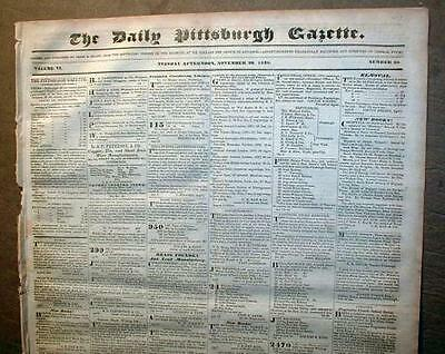 Large wholesale lot of 75 COMPLETE ORIGINAL US newspapers 1820-1889   100+YrsOld