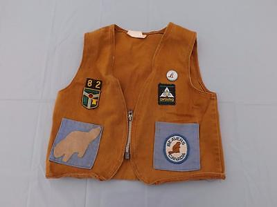 Beavers Canada Uniform Vest Vintage With Button And Patches Size 8 London