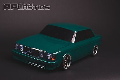 NEW Unpainted APlastics RC Drift car 1:10 body Volvo 242 GT style