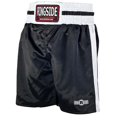 New Ringside Youth PST Pro Style Boxing Trunks - Black/White
