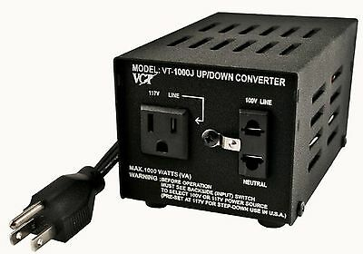 VCT VT-1000J Japanese Step Up/Down Voltage Transformer Converts Japan 100V to...