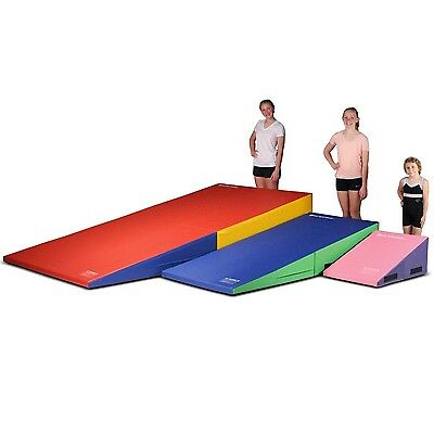 We Sell Mats Gymnastics Folding and Non-Folding Incline Cheese Wedge Skill Sh...
