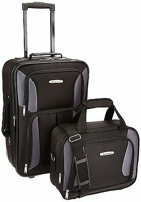ROCKLAND Luggage 2-Piece Set Black/Gray One Size