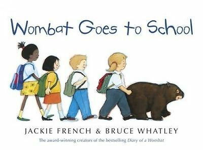 WOMBAT GOES TO SCHOOL by Jackie French Children's Reading Picture Story Book
