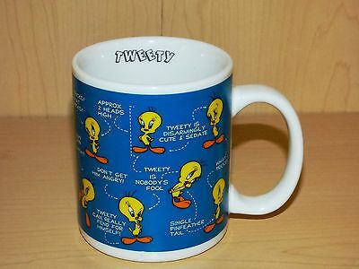 Warner Bros Studio Store Tweety Bird Ceramic Coffee Cup Mug Excellent Condition