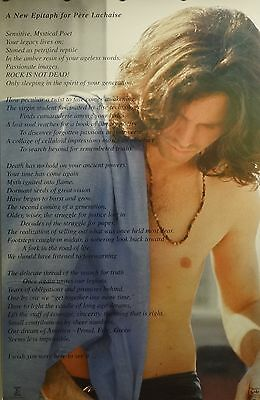 The Doors 23x35 Pere Lachaise Music Poster 1999 Jim Morrison