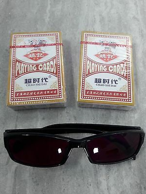 Marked Poker Playing Cards and Special Viewing Sunglasses
