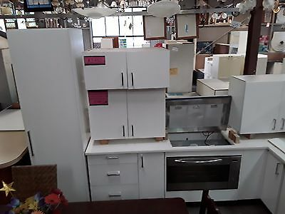 Modern White 2 Pac Kitchen - Caesar Stone Bench -incl appliances 'As Is' - $3100