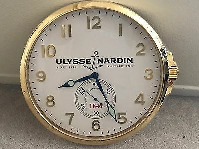 Ulysse Nardin Watch Co Authentic Large Dealer-Only Wall Clock RARE and Brand New