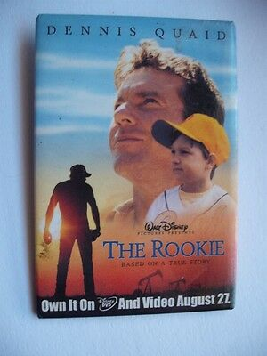 Walt Disney Pictures The Rookie Baseball Movie Advertising Button Lapel Pin Back