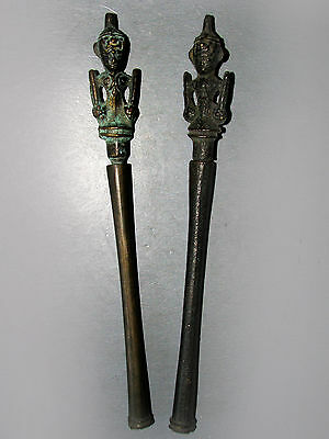 Beautiful & Rare Pair of Old Bronze Tool Tattoo From Burma Cheap Price Don't Mis
