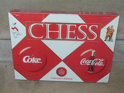 New Sealed Coca Cola Coke Chess Set Collector's Edition Board Game Santa Polar