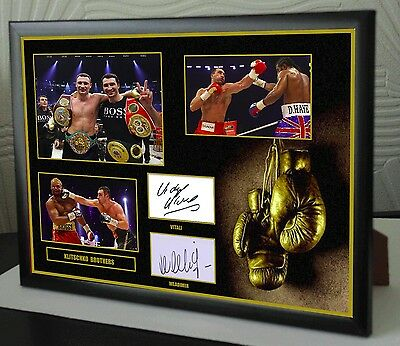 KLITSCHKO BROTHERS Framed Canvas Print Signed Great Gift-Souvenir