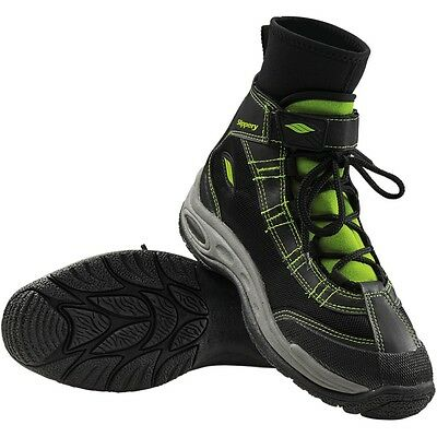 Slippery Wetsuits Black/Lime Mens Womens Water Sports Liquid Race Boots
