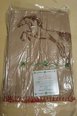 BILLY MILLS Commemorative Christmas Blanket 2014 , Horse Blanket