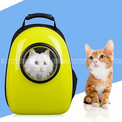 Pet Dog Cat Astronaut Capsule Backpack Transparent Breathable Carrier Travel Bag