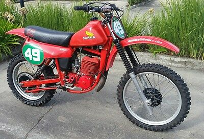 1980 Honda Cr250 Ra Elsinore  Vmx Red Rocket