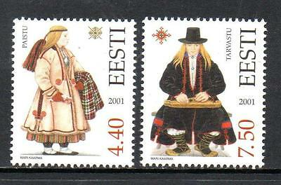 Estonia Mnh 2001 Sg411-412 Costumes (8Th Series)