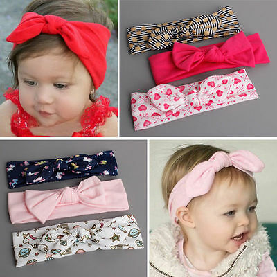 3Pcs/set Cute Kids Girl Baby Toddler Bow Headband Hair Band Accessories Headwear