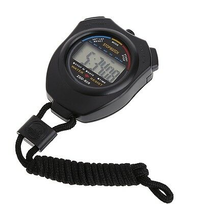 Handheld Digital LCD Chronograph Sports Counter Stopwatch Timer Stop Watch 1pc