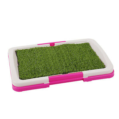 Pet Dog Puppy Toilet Urinary Trainer Grass Mat Potty Pad Indoor Litter Tray