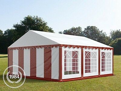 5x6m Heavy Duty PVC Marquee, Steelconstruction, Wedding Party Tent, red-white