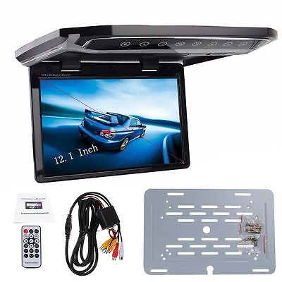 New 12.1 Inch Car Ceiling Roof Mounted Monitor Flip Down TFT LCD Monitor Player