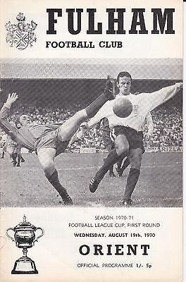 FULHAM v LEYTON ORIENT ~ FOOTBALL LEAGUE CUP 1ST ROUND ~19 AUGUST 1970