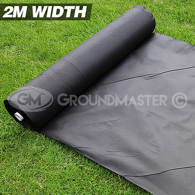 2M Wide Groundmaster Weed Control Fabric Landscape Ground Cover  Membrane