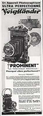 1933 French Ad Voigtlander PROMINENT Photo Camera