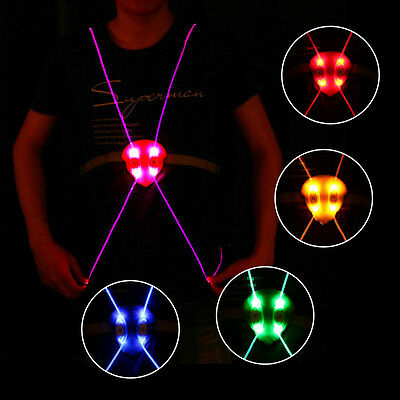 Lightweight LED Running Cycling Reflective Strap Night Safety Vest Jacket OP