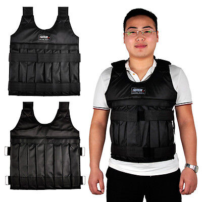 20kg Weighted Vest Empty Adjustable Weight Fitness Training Exercise Boxing