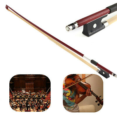 Pro 4/4 Elegant Handle Horsehair Rosewood Violin Practice Bow Musical Instrument
