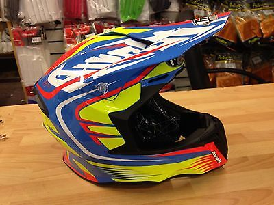 2017 Airoh Twist Helmet Mx Motocross Race Helmet Mix Gloss Size Medium 57-58Cms