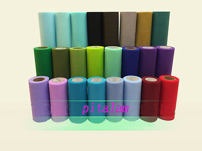 Tulle Roll 6 Inch x 25 Yards Tutu Skirt Fabric Wedding Party Chair Bows Decor