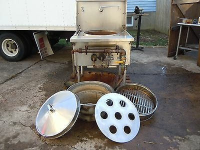 Heavy Duty Chinese Wok Range Use For Dim-Sum Steammer.