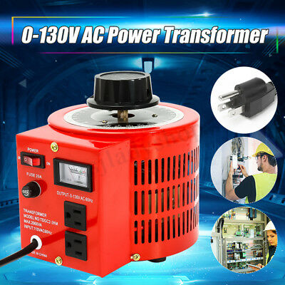 2000VA 20Amp 110V Auto Variac Variable Transformer AC Voltage Regulator Metered