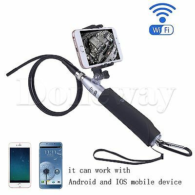 8mm 6 LED WIFI Endoscope Borescope Snake Inspection Video Camera for IOS&Android