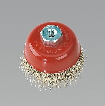 Sealey Brassed Steel Cup Brush 75mm M10 CBC75